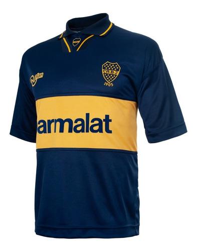 Camiseta Retro Boca Jrs Olan Maradona Cani Quilmes Parmalat
