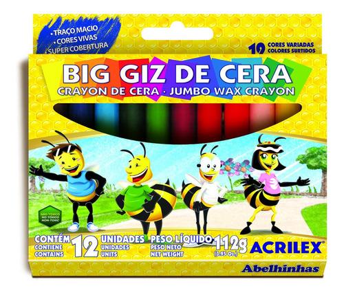 Crayones De Cera Acrilex 12 Colores Jumbo