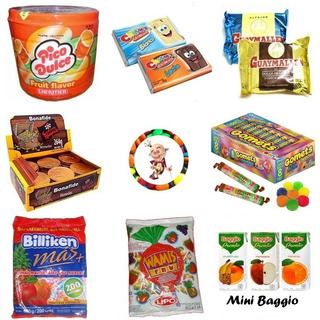 0029e- Golosinas 40 Chicos + Mini Jugos Baggio Candyshop