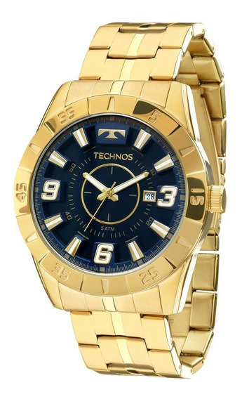Relógio Technos Masculino Dourado Nota Fiscal Original