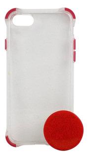 Case Celular iPhone 7 Gliter + Pocket Capa Capinha Barato