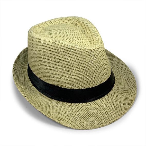 Sombrero Estilo Panamá Calidad Premium Solero Verano Playa Calor Unisex Variedad Tonos De Paja