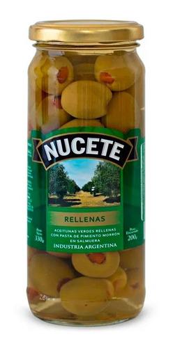 Aceitunas Nucete Verdes Rellenas Frasco X 200 Gr