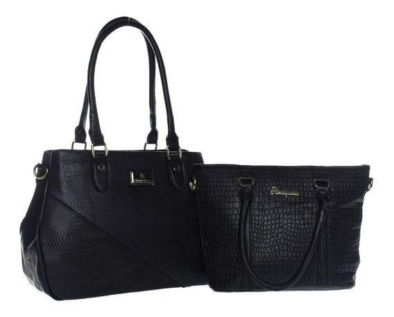 Kit 2 Bolsas Femininas Elegante Moda Fashion Tendência Novas