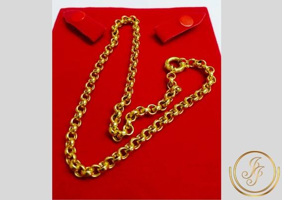 Corrente Em Ouro 18k Portuguesa 44 Cm 28,60 Gramas