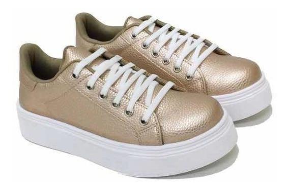 Zapatilla Mujer Sneakers Urbana Plataforma- Art 799