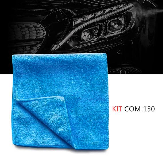 Kit 150 Pano Microfibra Automotiva Flanela Anti-risco Toalha