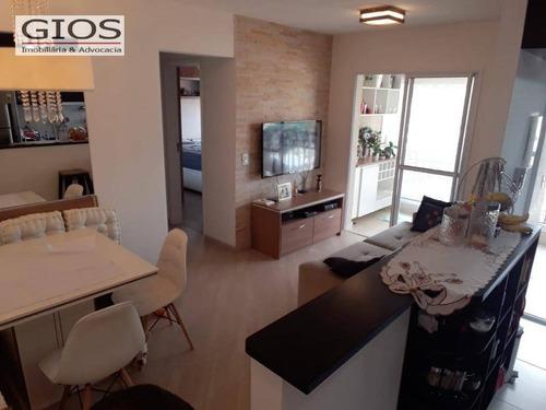 Apartamento Com 2 Dormitórios À Venda, 58 M² Por R$ 415.000,00 - Limão (zona Norte) - São Paulo/sp - Ap0282