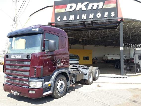 Scania 124 R 420 6x2 Milleniun Ano 2001 Com 400 Mil Km