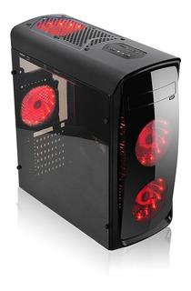 Tek Case Gamer 4 Ventiladores Led ¡ Envío Gratis !
