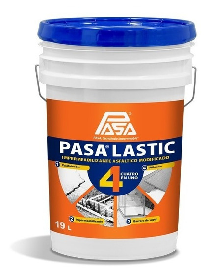 Emulsión Asfáltica Pasalastic 4 En 1 (base Agua)