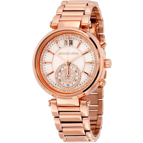 Relógio Michael Kors Sawyer Rose - Mk6282/4bn
