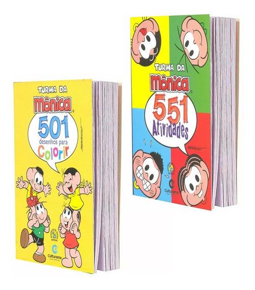 Turma Da Mônica 501 551 Atividades E Desenhos Colorir 2 Vols