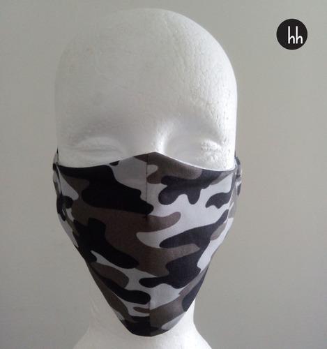 Máscara De Tecido Camuflado Forro Duas Camadas Kit Com 20