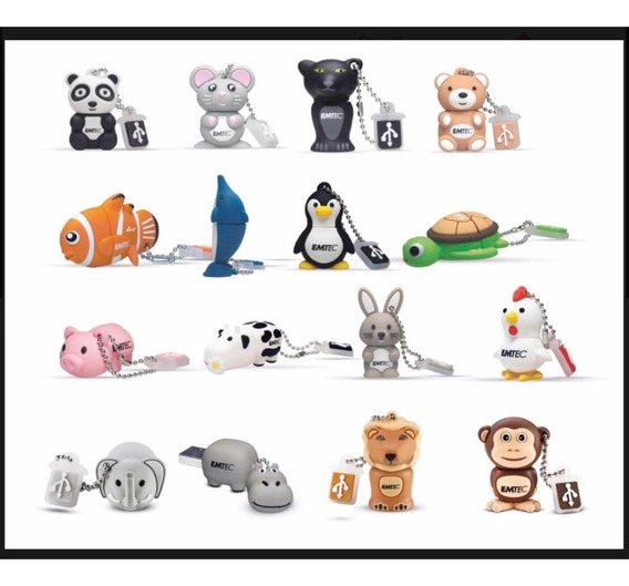Flash Drive Emtec 4gb Animals