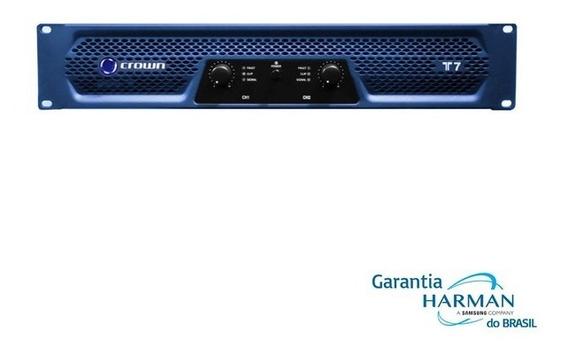 Amplificador Potência Crown T 7 - 2 X 950 Wrms (220v) T-7