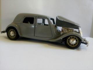 Miniatura Carrinho Citroen Antigo Metal Cor Cinz