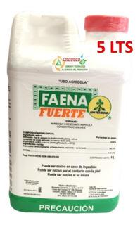 5 Lt Faena Fuerte Herbicida Control Malezas Y Pastos