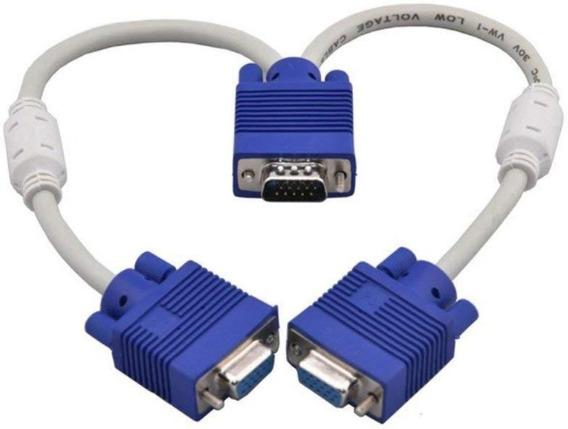 Cable Adaptador Splitter Vga Macho A 2 Vga Hembra Video