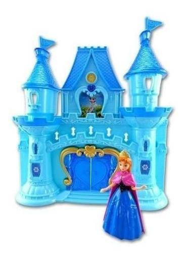 Castillo Simil Frozen Princesas Luz/sonido Y Accesorios