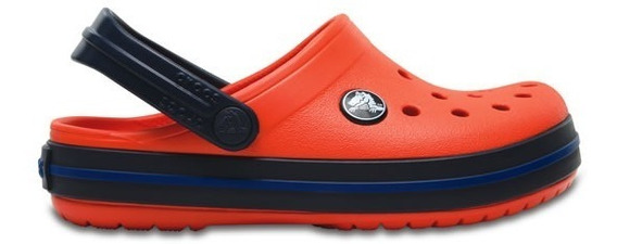 Zapato Crocs Unisex Infantil Crocband Naranja