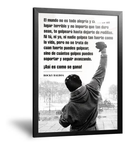 Cuadros Modernos Decorativos Con Frase Rocky Balboa 35x50cm