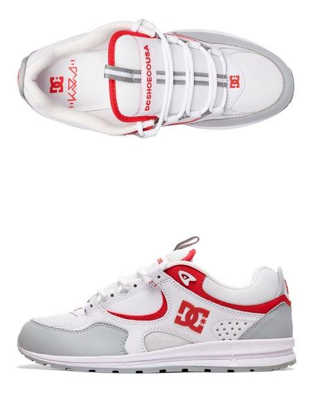 Tênis Dc Kalis Lite White Red And Grey 12x Sem Juros