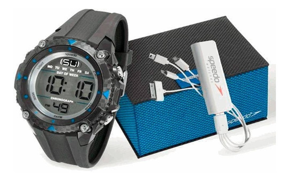 Kit Relógio Speedo Masculino - 81072g0egnp2k2