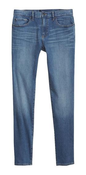 Jeans Hombre Pantalón Mezclilla Skinny Fit Azul Gapflex Gap