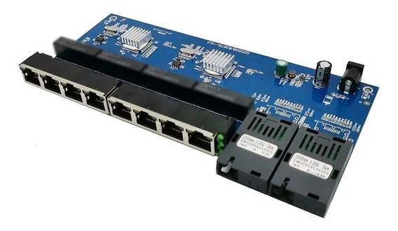 Switch Placa Rede Metro Giga Gigabit 1000mb Gbic A B-8p Rj45