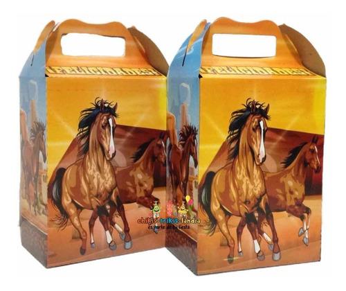 Imagen 1 de 1 de Caballos Horses 50 Cajitas Dulcero Aguinaldos