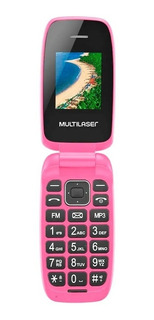 Celular Basico Flip Up Dual Chip Mp3 Rosa Multilaser - P9023
