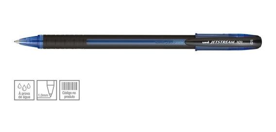 Caneta Esferográfica Uniball Rollerball Jetstream 1.0 Azul