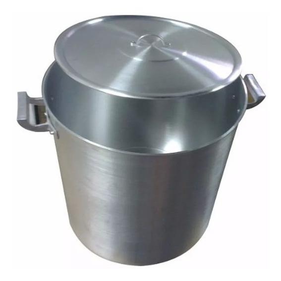 Olla Gastronomica Nº 38 De Aluminio 42 Litros Reforzada