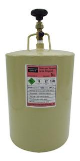 Cilindro Garrafa Transporte Gás Refrigerante 5kg R22 R134