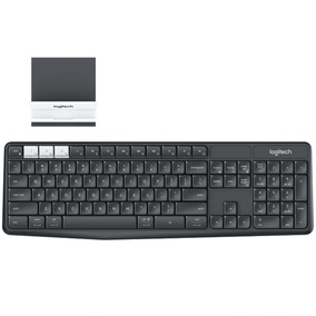 Teclado - Sem Fio - Logitech Multi-device K375s - Preto - 92