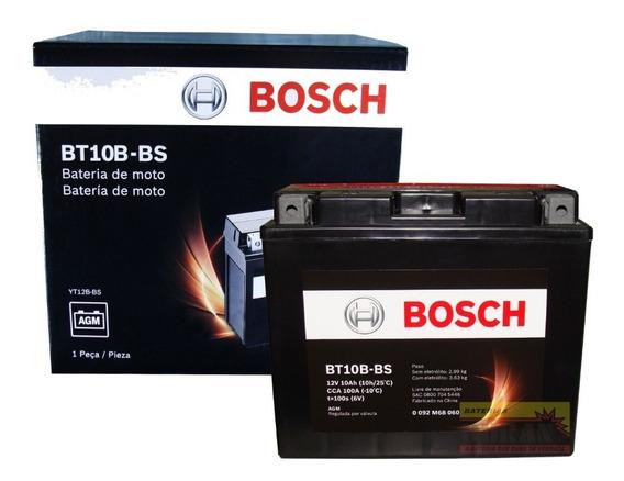 Bateria Moto Bosch Bt10b-bs 10ah 12v Yamaha Xvs 650 Drag Sta