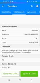 Tablet Samsung Galaxy Tab E T561