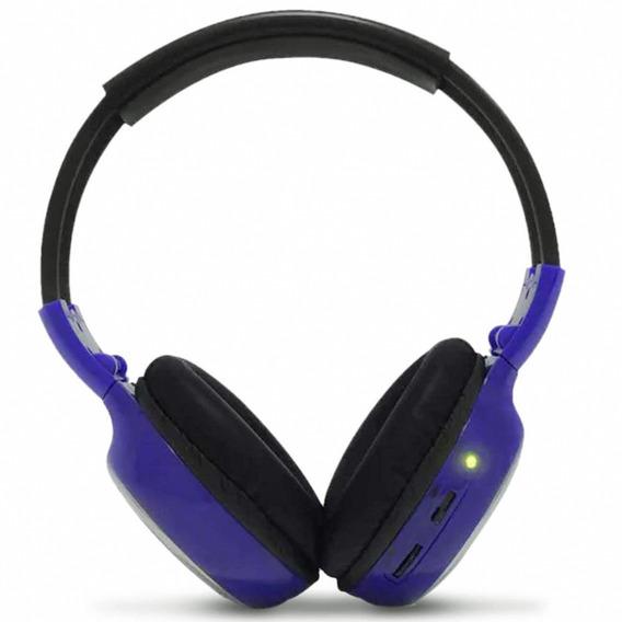 Fone De Ouvido Techone Headphone Azul Sem Fio Infravermelho