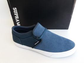 1ca1f39ef36 Tênis Supra Footwear Cuba Slip Azul Original