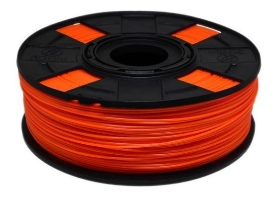 Filamento Pla Laranja Ef 1,75mm Impressoras 3d 500 Gramas