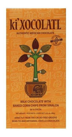 Ki Xocolatl Naranja 36% Cacao Totopos, Natural, Orgánico