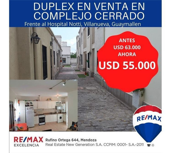 Duplex En Venta En Complejo Cerrado Villanueva