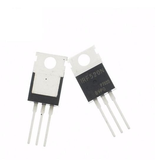 Irf 520   Irf520 Transistor ( Pacote C/ 10 Peças )