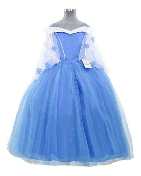 Vestido Para Niña Frozen Cumpleaños Fiesta Disfraz