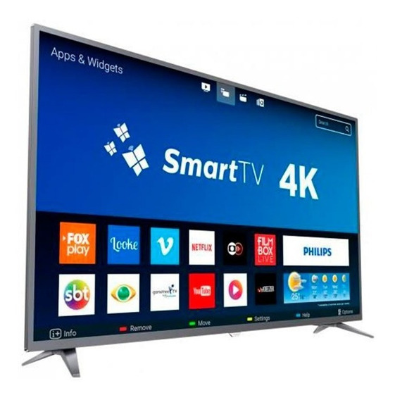 Smart Tv Led 55 Polegadas Philips 55pug6513 Ultra Hd 4k 3 Hd