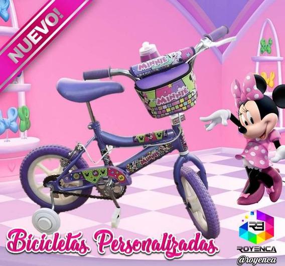 Bicicleta Para Niña Niño Personalizada Rin 12 Regalo Navidad