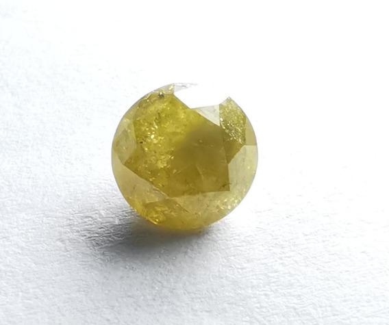 Diamante Amarelo Lapidação Brilhante Natural Com 1,36 Ct