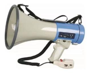 Megafono Con Sirena Microfono Y Usb 25w Muy Potente By Dancis