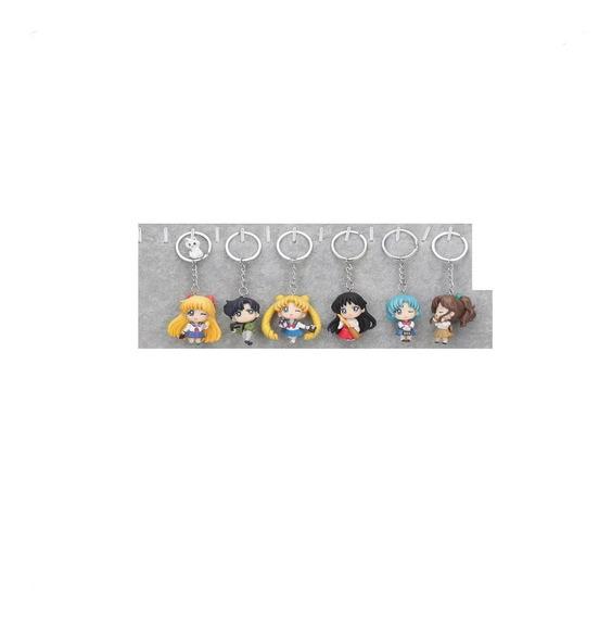 Sailor Moon Escolares 6 Figuras De Colección De Llavero